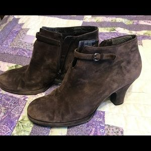 Aerosoles Brown Suede Leather Heeled Ankle Boots